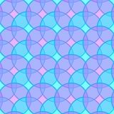 Seamless circles pattern background Stock Images