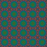 Seamless circles pattern blue green red Royalty Free Stock Photography
