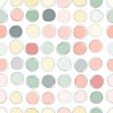 Seamless circles pattern Stock Images