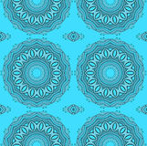 Seamless circles pattern gray turquoise Royalty Free Stock Photography