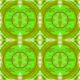 Seamless circles pattern in green shades with white. Abstract geometric seamless background. Regular concentric circles pattern bright green and olive green with Stock Photo