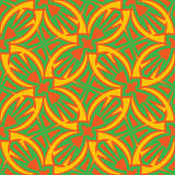 Seamless Circles and Points. Seamless wallpaper of bird shapes in green, yellow and red tones Royalty Free Stock Photos