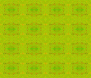Seamless circles and rectangles pattern green orange. Abstract geometric seamless background. Ornate regular circles and rectangles pattern lemon lime green with Royalty Free Stock Photography