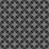 Seamless circles, rings black / white geometric pattern Stock Photography
