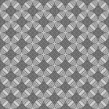 Seamless circles, rings black / white geometric pattern Royalty Free Stock Photos