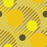 Seamless circles 80s retro pattern. Seamless circles pattern, abstract ceamless print with circles, modern geometric background Royalty Free Stock Photos