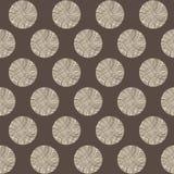 Seamless circles stump pattern Stock Images