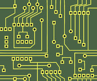Seamless Circuit Background Royalty Free Stock Photos