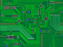 Seamless Circuit Board Background Stock Photos