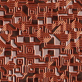 Seamless circuit texture Stock Photos