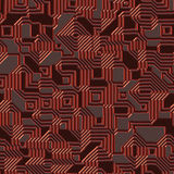 Seamless circuit texture Royalty Free Stock Photo