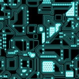 Seamless Circuitry royalty free illustration