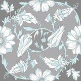 Seamless circular elegant floral pattern Stock Photos