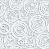 Seamless circular pattern with shadow white color Royalty Free Stock Images