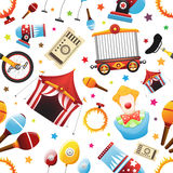 Seamless Circus Icon Pattern Royalty Free Stock Photos