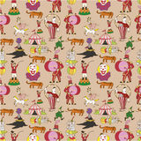 Seamless circus pattern Stock Photos