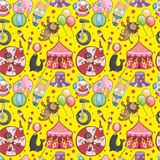 Seamless Circus pattern. Vector drawing Stock Image