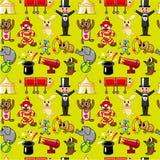 Seamless circus pattern Stock Photography