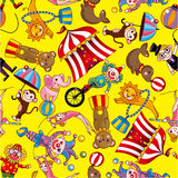 Seamless circus pattern Stock Images