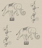 Seamless circus pattern Stock Photo