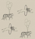 Seamless circus pattern Royalty Free Stock Photography
