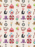 Seamless Circus pattern. Cartoon vector illustration Royalty Free Stock Images