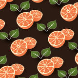 Seamless Citrus Background Royalty Free Stock Image
