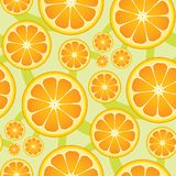 Seamless Citrus Pattern. You can use this repeating pattern to fill your own custom shapes and backgrounds Royalty Free Stock Photography