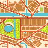 Seamless city map. Editable seamless tile of a generic city map Stock Photos