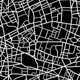 Seamless city map pattern. Abstract seamless pattern of a fictional city map, white streets on black background Royalty Free Stock Photography