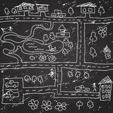 Seamless city map pattern Stock Image