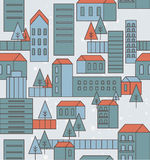 Seamless city pattern Royalty Free Stock Image
