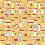 Seamless city pattern Stock Image