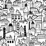 Seamless city pattern. Stock Photos