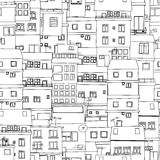 Seamless city sketch Stock Photos