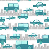 Seamless city traffic background Stock Images
