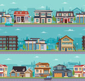 Seamless Cityscape Template Royalty Free Stock Images