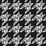 Seamless classic fabric houndstooth, pied-de-poule  pattern Royalty Free Stock Images