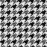 Seamless classic fabric houndstooth, pied-de-poule  pattern Stock Image