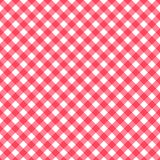 Seamless classic pattern background, red pastel diagonal overlapping stripes red and white squares tablecloths or umbrella gingham. Seamless classic pattern Royalty Free Stock Photos