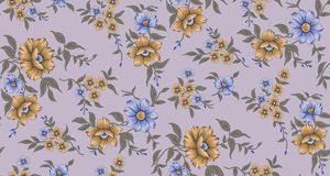 Seamless classical flower pattern. Background vector illustration