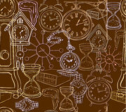 Seamless clock background Stock Photos