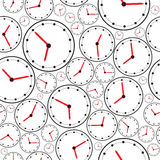 Seamless the clock pattern for background. Vector Royalty Free Stock Images