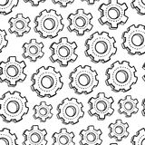Seamless clockwork background Stock Images