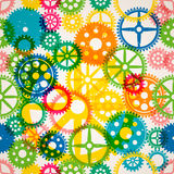 Seamless clockwork colorful background Stock Photo