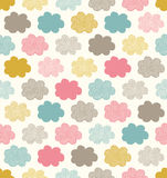 Seamless cloud fabric pattern Stock Photo