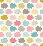 Seamless cloud fabric pattern. Seamless simple cloud fabric pattern Royalty Free Illustration
