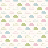 Seamless cloud fabric pattern Stock Photos
