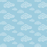 Seamless Cloud Pattern Royalty Free Stock Photos