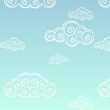 Seamless Cloud Pattern Stock Image